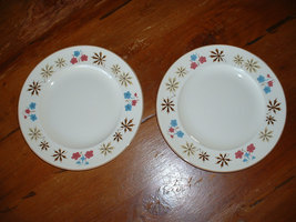 FRANCISCAN plates -- a pair from the 1950's - FREE SHIPPING - $24.99