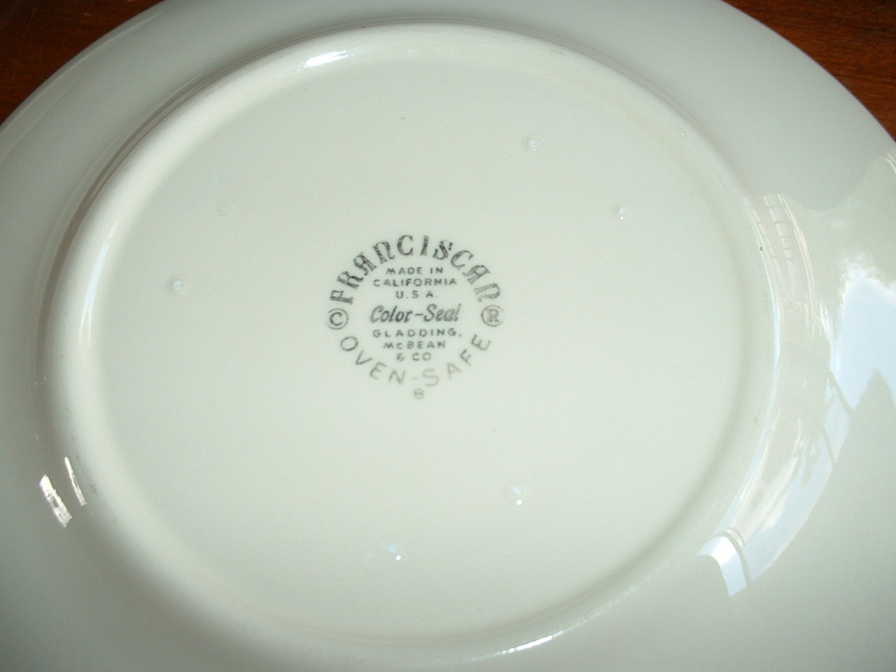FRANCISCAN plates -- a pair from the 1950's - FREE SHIPPING