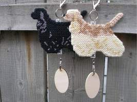 Cocker Spaniel dog crate tag Hang anywhere, undocked natural tail, color... - $25.00