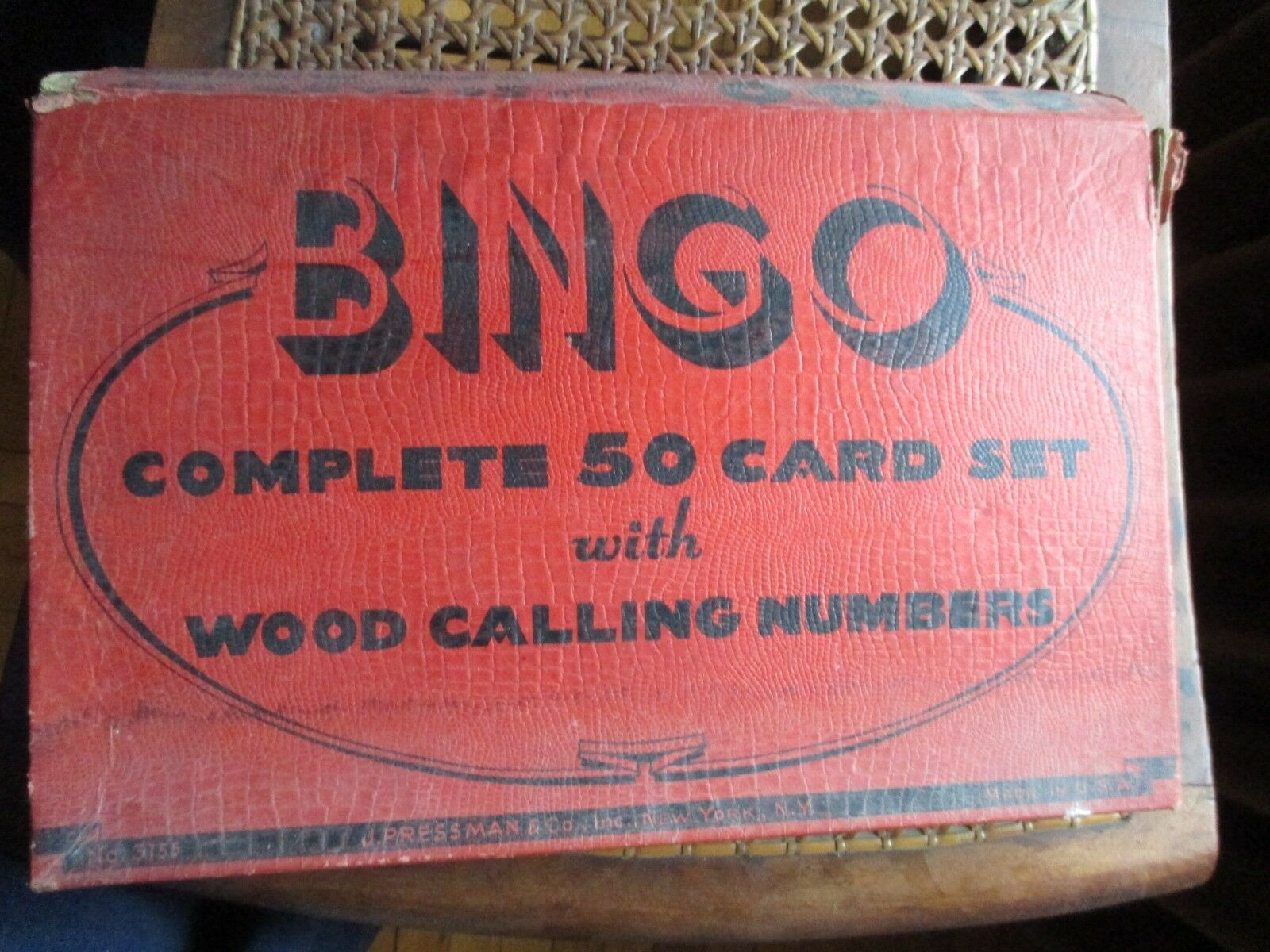 Vintage Bingo Game in Box, J. Pressman Co., New York