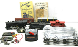 AC Gilbert American Flyer S Lot locomotive #303+Freight Cars+Track+Trans... - $144.91
