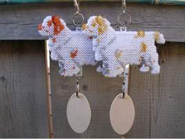 Clumber Spaniel crate tag or hang anywhere, dog handmade accessory Color... - $25.00