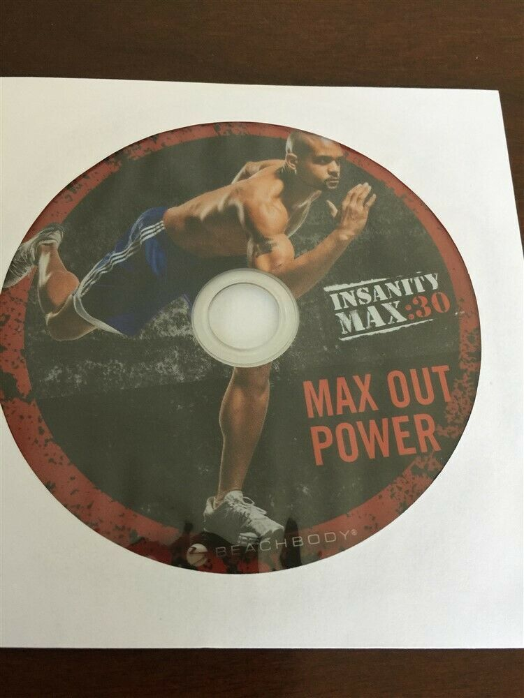 BEACHBODY INSANITY MAX 30 MAX OUT POWER REPLACEMENT DISC DVD