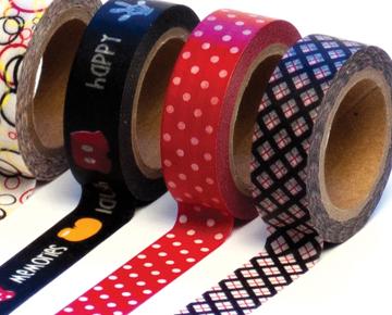 Magic Set Trendy Tape Gift Set LOT 6 washi tape scrapbooking cardmaking crafting