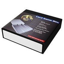 BCW GAMING CARD GAME BOX - 3 ROW - BLACK WITH WHITE - $22.73