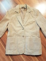 St John's Bay Beige Suede Leather Jacket for Women, Large - €16,68 EUR