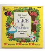 Walt Disney Record & Book LP 24 pg Book Alice in Wonderland Vtg 1951 - $8.99
