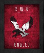 "Eastern Washington Eagles ""Retro College Logo Map"" 13x16 Framed Print  - $39.95"