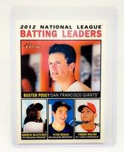 MLB BUSTER POSEY 2012 TOPPS HERITAGE BATTING LEADERS INSERT #7 MNT - $1.61