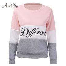ArtSu 2017 Autumn and winter women fleeve hoodies printed letters Differ... - $13.84