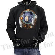 Native American Indian Bear Dream Catcher Fleece Pullover Graphic  Hoodie - $19.69+