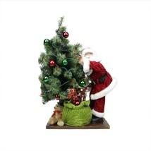 """Northlight 30"""" B/O LED Santa Tree and Gift Bag Christmas Figure on Woode... - $102.70"""