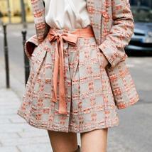 Amii Minimalist Tweed Two Pieces Set Autumn Office Lady Loose Lapel Blazer MIni  image 7
