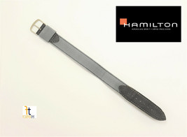 18mm Original Hamilton KHAKI Nylon & Leather Watch Band Strap Gray/Navy ... - $75.00