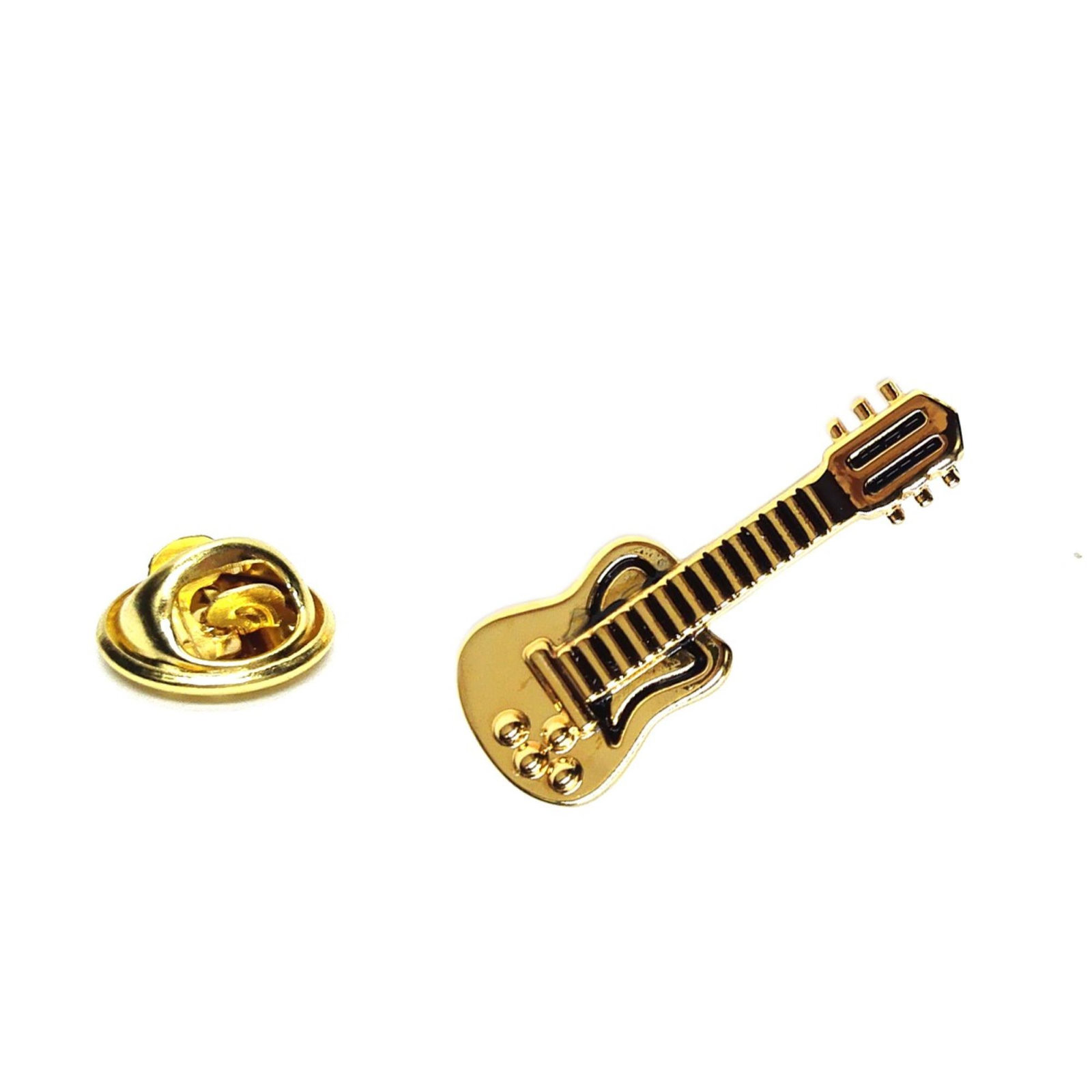 Golden Electric Guitar Electric Guitar  Design  / tie pin,lapel pin, badge in gi