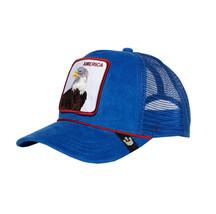 Goorin Bros Snapback Mesh Cap Blue America For Real Eagle Trucker Hat 101-2708