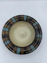 "Pfaltzgraff Cayman Soup/Cereal Bowl Brown & Blue, 9 1/8"" - $5.51"