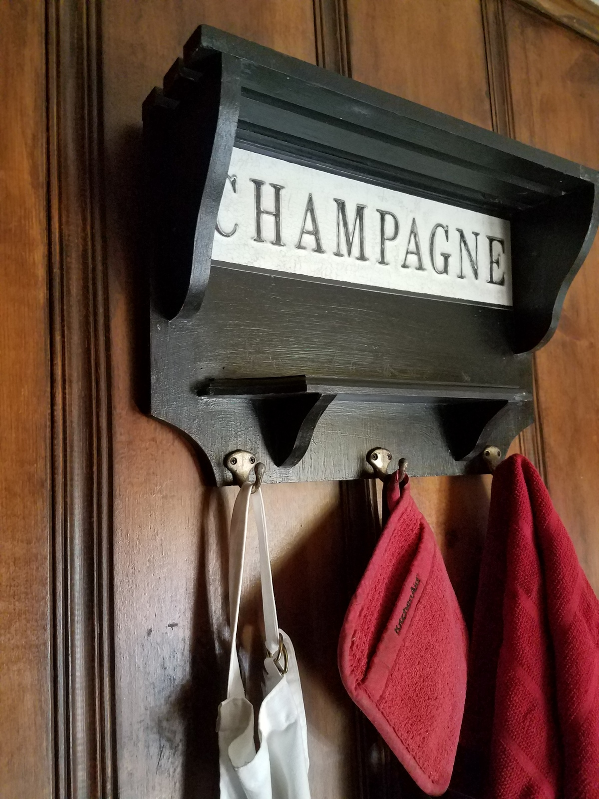 Wine Shelf with Hooks