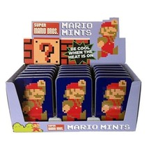 Nintendo Super Mario Brothers 8-Bit Mints In Embossed Metal Tin Box of 18 SEALED - $58.00