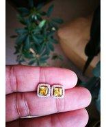 14K White Gold Finish Round Cut Red Ruby & Sim Diamond Stud Earrings - $72.99