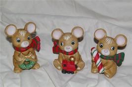 Homco Christmas Mice Trio 5210 Home Interiors - $11.99