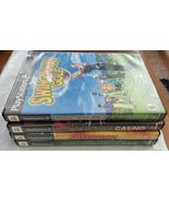 Ps2 LOT Swing Away Golf,Casino,Winter Jam-pack, Poker Tested Complete   - $15.00
