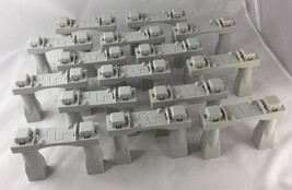 Geotrax Grey Stacking Bridge Elevation Track Riser Support Lot of 15 - $39.99