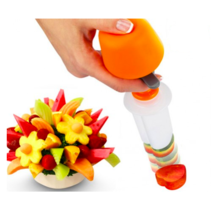 Plastic Fruit Shape Cutter Vegetable Salad Slicer Cake Mold Decorator Fo... - $10.99