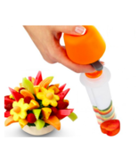 Plastic Fruit Shape Cutter Vegetable Salad Slicer Cake Mold Decorator Fo... - ₨705.77 INR