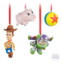 Disney Parks Toy Story Sketchbook Minis Boxed Buzz Woody Ornament Set Or... - $34.60