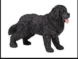 NEWFOUNDLAND TERRIER DOG BLACK FIGURINE PET PAPO TOY NEW - $6.30