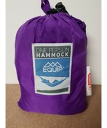 Equip ONE PERSON PURPLE Travel 1.2 lb. Hammock 400 lb. Weight Capacity NEW - $27.99