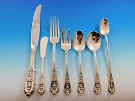 Rose Point by Wallace Sterling Silver Dinner Size Flatware Set 12 Service 93 Pcs - $5,595.00