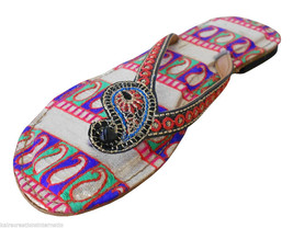 Women Slippers Indian Handmade Traditional Leather Flip-Flops US 6  - $24.99