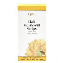 GiGi Hair Removal Strips for the Body - Pre-Waxed with GiGi All-Purpose Honee Fo