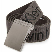 New Calvin Klein Men's Premium CK Logo Cotton Adjustable 38mm Canvas Belt 73545 image 10