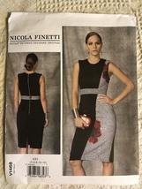 Vogue Pattern V1468 Misses' Dress By Nicola Finetti Sz AX5 (4-12) - $32.00