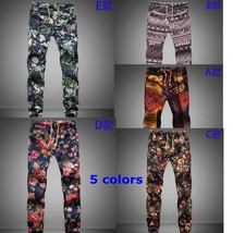 Floral fashion cotton loose big yards men's casual pants - $32.64