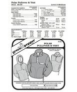 Adult's Polar Pullover & Vest Jacket Coat #512 Sewing Pattern (Pattern O... - $8.00