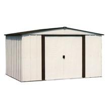 Storage Shed Metal Building 8 x 6 Sliding Lockable Door Latch Outdoor Ga... - $348.23