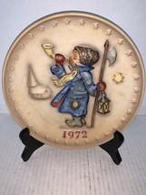 "Goebel M J Hummel Annual Collector Plate ""Boy Blowing Horn"" 1972 - $10.00"