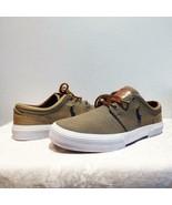 $59.00 Ralph Lauren Faxon Low Men's  Canvas Sneakers, Gray, US 8, D, - $32.67