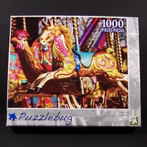 Puzzlebug Carousel Horse Jigsaw Puzzle 1000 Piece NEW Rooster Pony Park ... - $14.99