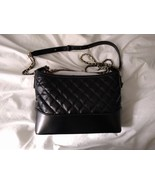 NWOT Quilted Faux Leather Crossbody Bag in Black - $35.00