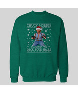 CHUCK NORRIS CHRISTMAS SWEATSHIRT *OLDSKOOL* Men SWEATER *FULL FRONT* - $34.64+