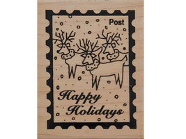 Stampington 1996 Holidays Post Wood Mounted Rubber Stamp #M4571
