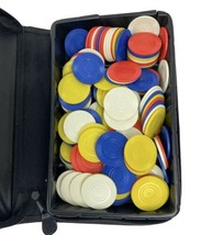 poker chip set with case - $19.80