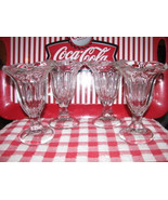 VINTAGE ANCHOR HOCKING ICECREAM SUNDAE GLASSES ... - $19.78