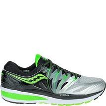 Saucony Men's Hurricane ISO 2 Running Shoe, Black/Silver/Slime, 10.5 M US - $148.71