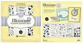 Inkadinkado Spring Blossoms Clear Stamp Set, 130 Pieces